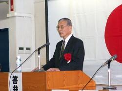 来賓挨拶 藤渡辰信総長・理事長