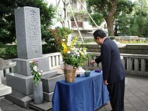 桂太郎公墓参①