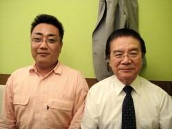 右・佐々木陽吉新会長(61期) 左・治郎丸智明新幹事長兼事務局長(87期)