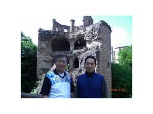 ハイデルベルクにて中本社長(左)と