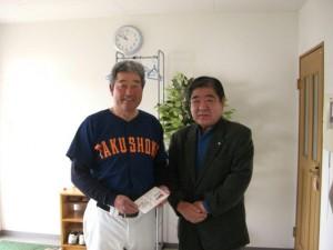 静岡県支部 硬式野球部に支援金