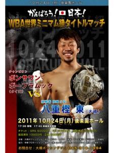 八重樫東 WBA世界ミニマム級タイトルマッチ