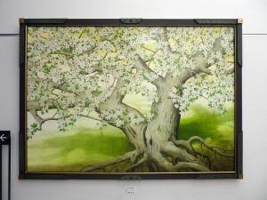 小柳吉次氏「リンゴの花」