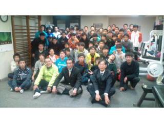 箱根駅伝出場の陸上競技部を激励