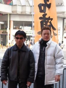 (左)市川支部長(右)富田幹事長
