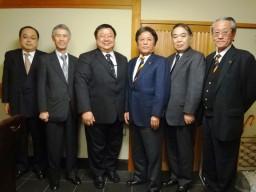 台湾連合会新会長、学友会本部を訪問②