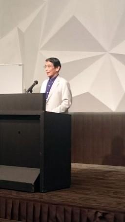 内外ニュース北九州懇談会で渡辺総長が講演③