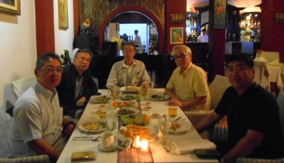 在ヤンゴンOB会