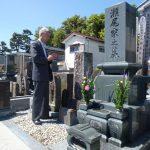 瀬尾努陸軍少尉の墓参①