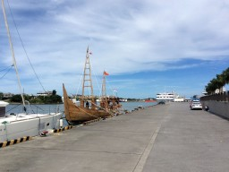 マジャパヒト帆船、沖縄を出港②