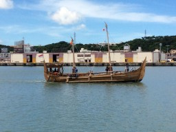 マジャパヒト帆船、沖縄を出港③