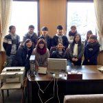 北海道短大校舎内