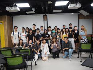 香港理工大学にて