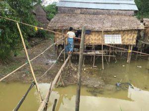 ミャンマーの郊外