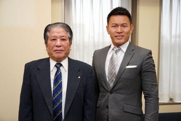 赤澤会長と須藤氏