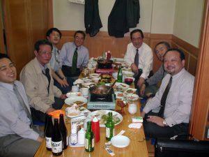 2001年4月 韓国出張の際韓国OBソウル在住日本人OBと